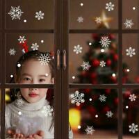 heekpek 216 Pcs Weihnachten Schneeflocken Fenster haftet Wandaufkleber J3I9