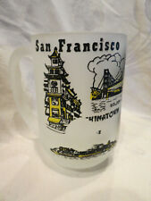 SAN FRANCISCO FROSTED MUG CHINATOWN,GOLDEN GATE BRIDGE,FISHERMEN'S WHARF, ETC...