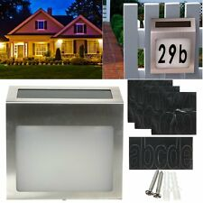 Solar Powered LED illuminated House Door Number  Wall Light Up Plaque Waterproof