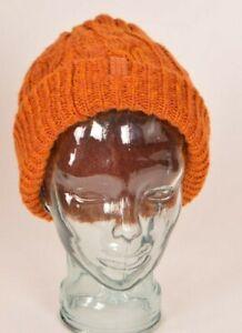 BURTON BONE COBRA BEANIE $30 OS Orange 100% One Size acrylic used