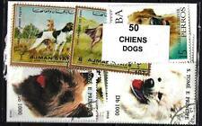 Chiens - Dogs 50 timbres différents oblitérés