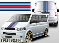 VW Volkswagen Transporter Martini OTT001 racing stripe stickers graphics decals