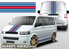 VW Volkswagen Transporter Martini Calcomanías Gráficos Pegatinas Rayas OTT001 Racing