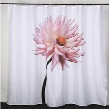 Large Pink Flower Bathroom Shower Curtain 180cm x 200cm Polyester Hooks
