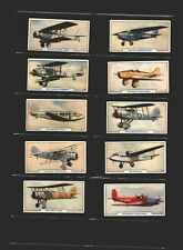 cigarette cards aircraft aeroplanes 1938 full set