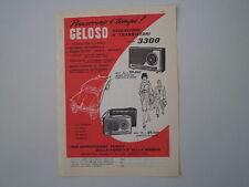 advertising Pubblicità 1960 GELOSO RADIO RICEVITORI SERIE 3300