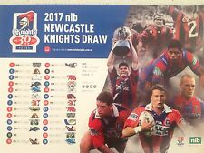 NRL NEWCASTLE KNIGHTS 2017 OFFICIAL TEAM  POSTER RUGBY ATTRACTIVE BARGAIN 1