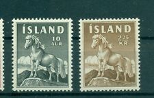 CHEVAUX - PONEYS ICELAND 1958 Common Stamps