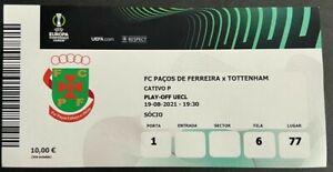 UEFA Conference League match Ticket 2021/2022- FC Paços De Ferreira vs.Tottenham