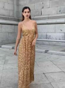 Zara Sequin Gold Dresses For Women Ebay