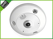 6MP HD IP Fisheye Camera +H Serie= Built-in Audio I/O Alarm ICR Security Camera