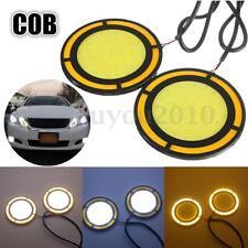 2x COB LED DRL Auto Nebelscheinwerfer Tagfahrlicht Blinker Wasserdicht Weiß+Gelb