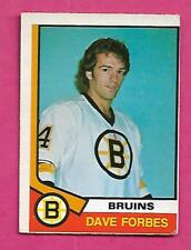 1974-75 OPC  # 266 BRUINS DAVE FORBES ROOKIE VG CARD (INV# C0390)