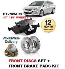 Para Hyundai i40 1.6 1.7 Crdi 2011- > Juego Nuevo Freno Disco Delantero y Kit de