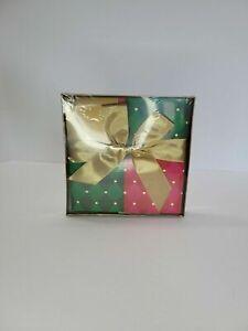 2003 AVON CHRISTMAS 'FOLDING GIFT BOX' w/NOTE CARD & RIBBON NIP