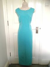 Country Casuals Green Fitted Summer Maxi Pencil Dress Size 16 Wedding Occasion