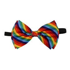 Bow Tie Rainbow Spiral Adult Men Women Winter Formal Wear Adjustable Accessories