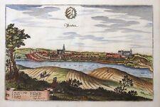 MECKLENBURG VORPOMMERN PENKUN WAPPEN KOLORIERT KUPFER MERIAN TOPOGRAPHIA 1660