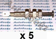 5 x 12V METAL PIN SWITCH 8MM HOLE car alarm interior light caravan boot bonnet