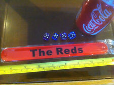 The Reds Football Red Snap Bracelet High Quality Fold Plastic Wristband