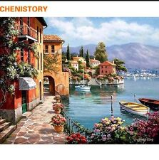 DIY Canvas oil Painting Paint By Numbers Venice Night Kit Include Colours+brush