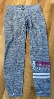 JUSTICE ACTIVE YOUTH GIRLS GYMNASTICS GRAY STRETCH WARM UP SWEAT PANTS 10 EUC