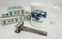 Vintage Set of Shaving Accessories Gillette Razor Shaving Surrey Mug & Soap
