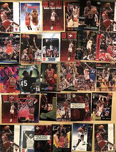 Huge 30 Card Michael Jordan Baseball Wizards Insert 90s Hoops Skybox Wizards HOF