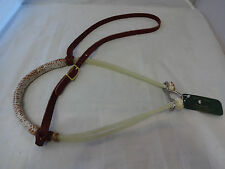 Western Horse Braided Noseband Double Rope Caveson Tack Berlin Custom Leather Nw