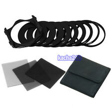 New For Cokin Filter Set P Series 3pcs ND2 ND4 ND8 + 9pcs Adapter Ring + Holder