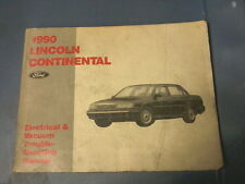 1990 Lincoln Continental Electrical Vacuum Troubleshooting Manual