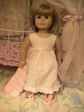 Pretty Night Gown , Bunny Slippers and Small Blanket for 18 inch  Dolls