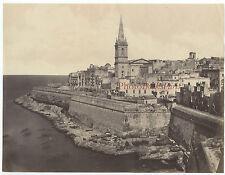 Malte La Valetta Albuminé Vintage albumen ca 1875