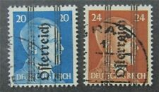 nystamps Austria Stamp # 415.416 Used $72