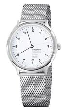 Mondaine Helvetica No1 Regular 40mm Unisex Quartz Watch With White Dial Analogue