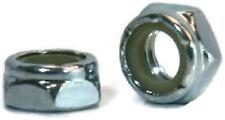 "Nylon Insert Jam Nut Zinc Plated Grade A Steel Hex Nuts - 1/4""-20 UNC - Qty-250"