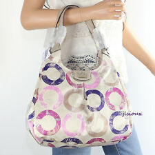 NWT Coach Madison Signature Distressed OP Art Maggie Shoulder Bag Hobo 22289 NEW
