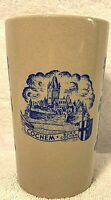 """German Burg Cochem """"Trink aus Stein den edlen Wein"""" Ceramic Cup Mug Glass"""