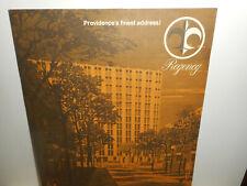 Original Regency Providence Ri Apartments Architects Floor Plan Sales Brochure