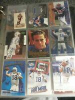 PEYTON MANNING 9 card LOT Indianapolis Colts Football