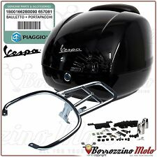 TOP-CASE NOIR 94 + SUPPORT ORIGINAL VESPA GTS SUPER 300 2008-2009
