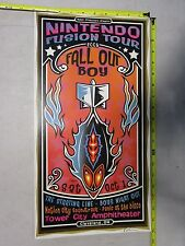 MB/2005 Concert Poster Fall Out Boy Darren Grealish Signed Nintendo Fusion Tour