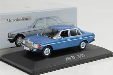 1976 mercedes-benz 200 d w123 azul metalizado 1:43 Ixo Altaya Collection