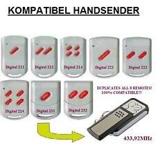 Digital 212, 214, 224, 232 Kompatibel handsender, Klone (NOT MADE BY MARANTEC)
