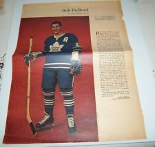 Bob Pulford  # 2 Weekend  Magazine Photos 1963-64  Toronto Star lot 4