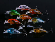 Lot 5pcs Metal Fishing Lures Bass CrankBait Spoon Crank Bait Tackle