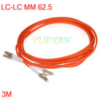 3M LC to LC Fiber Patch Cable Cord Jumper Duplex MM 50/125 2.0mm LC-LC Jumper