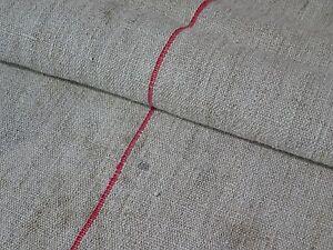 Antique European Feed Sack GRAIN SACK Red Stripe # 8953