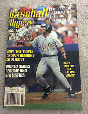 MLB BASEBALL DIGEST Magazine Gary Sheffield Feb 1993 Devon White/Tim Wakerfield