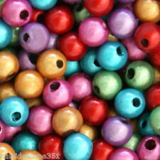 MIRACLE BEADS COLOR MIX RED PURPLE GREEN GOLD FUCHSIA TURQUOISE 4MM 120 PCS